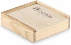 ECOSTARE Luxe Speelkaarten in Houten Opbergdoos met 5 Houten Dobbelstenen - Poker - Kaarten - Yahtzee - Kwaliteit en Duurzaam