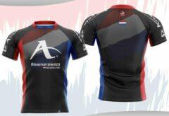 Rode T-shirt Arawaza | dry-fit | #teamArawaza Nederland | maat L
