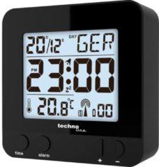 Zwarte Radio gestuurde Wekker - Datum - Temperatuur - Technoline WT 235