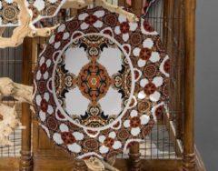 Taupe Baci Milano Decomel Granada - melamine schaal D 35cm x H7cm in prachtige giftbox