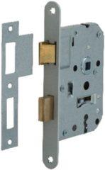 Hofftech Nemef klaviersleutelslot 1266/4 rechts - Doornmaat 50mm -Wit gelakte voorplaat - Met sluitplaat - 2 sleutels - Met bevestigingsmateriaal - In zichtverpakking