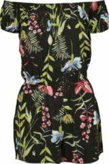 Zwarte Urban classics Jumpsuit - Short Off Shoulder - Modern - Casual - Beach - Streetwear - Spring - Summer - Lente - Zomer Dames Jumpsuit Maat L