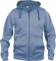 Clique Basic hoody full zip Lichtblauw maat S