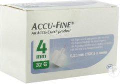 Accu-check Accu-Fine 0,23mm(32G)x4mm 100 Stuks