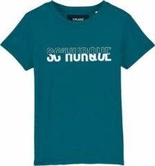 Groene Cheaque Unisex Unisex T-shirt Maat 152