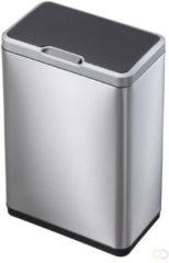 Zilveren EKO Mirage Sensor Bin afvalbak - 45 liter - mat RVS