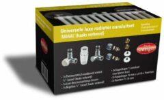 Best Design Class universele luxe radiator aansluitset haaks verkeerd chroom 3825050