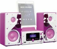 Zwarte Lenco MC-020 - Microset Tafelradio / Bluetooth en USB - Princess
