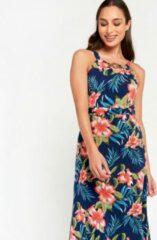 LOLALIZA Lange jurk met print en halternek - Light Blauw