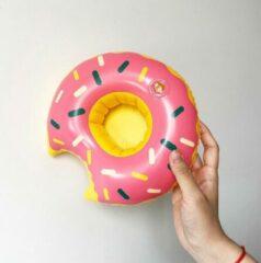 Assortimarkt.nl Opblaasbare Roze Donut voor in zwembad en stand speelgoed glas / blikhouder opblaasbaar speelgoed voor in water