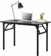 Neu.haus Eettafel bureau 120x60x75 - 76,4 cm opvouwbaar verstelbaar donkerbruin en zwart