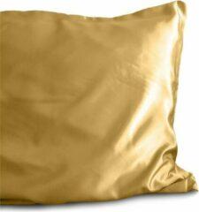 2x Luxe Glans Satijn Kussenslopen Goud | 60x70 | Goed Voor De Haar En Huid | Tegen Acne En Onzuiverheden
