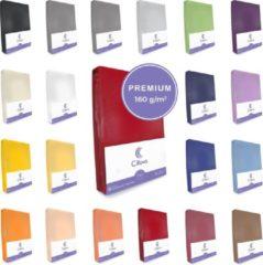 Cillows Premium Jersey Hoeslaken voor Matras - 90x200 - 100x220 cm - (tot 25 cm hoogte) – Rood