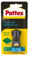Bruna Secondelijm Pattex met kwast flacon 5gram op blister