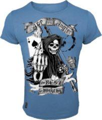Blauwe Hotspot Design T-Shirt Ace Angler - Maat M