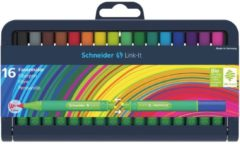 Schneider Pen Viltstift Schneider Link-It 1,0mm assorti 16 stuks