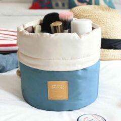 AA Commerce Blauw Make Up Tasje / Toilettas / Etui / Organizer / Opberger - Toilettas / Travel Organizer Reis Toilet Bag Organiser - Dames Make Up Tas Koffer / Opberg Box / Reis Cosmetica Tas / Opbergsysteem / Houder