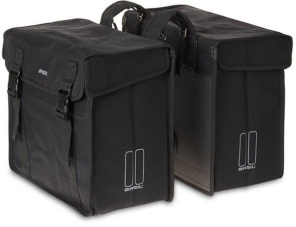 Afbeelding van Michelin Dubbele Fietstas Basil Kavan XL Canvas Zwart 65 Liter