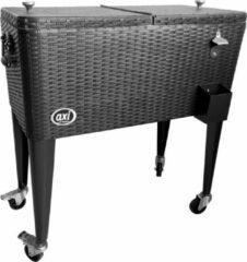 AXI Retro Cooler Wicker-look Zwart - Koeler - 76L inhoud - Koelbox met aftapkraan