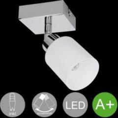 Wohnling 1-flammiger LED-Spot Warmweiß EEK A+ inkl. 1x3 Watt Leuchtmittel Drehbare Wandlampe IP20 Fassung G9 LED Diele Flur Wandspot Deckenlampe Woh