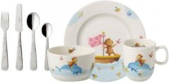 Blauwe Villeroy & Boch Happy as a bear Kinderservies premium porselein 7-delig