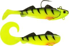 Groene Team Deep Sea Gummifisch | Hightide Sea Shad | UV Chartreuse Ghost | 300g
