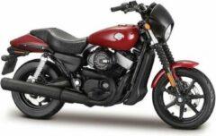 Harley-Davidson Harley Davidson Street 750 2015 (Rood) 1/18 Maisto - Modelmotor - Schaal model - Model motor - harley davidson schaalmodel