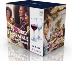 Luminarc 6x Stuks wijnglazen transparant 360 ml - Wijnglas voor rode of witte wijn op voet