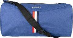 Merkloos / Sans marque Blauwe Sporttas- 45 cm- ook geschikt als handbagage