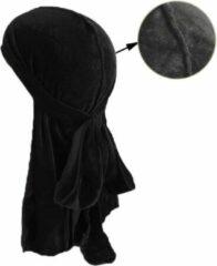 Durag Waves Black Velvet (Suede) Edition|Premium High Quality|Silky|Haardeksel|Hoofddoek|Cabantis|Zwart