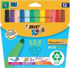 Creativ company Visa Color kleurstiften, lijndikte: 3 mm, 12 stuks, diverse kleuren