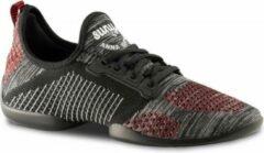 Anna Kern Suny Danssneakers 4015 Pureflex - Heren Sport Sneakers - Salsa, Stijldansen - Zwart/Rood - Maat 42,5