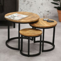 Bruine Vince Design Salontafel Set Oxford