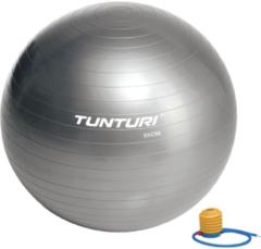 Grijze Tunturi Fitnessbal - Gymball - Swiss ball - Ø 55 cm - Inclusief pomp - Zilver