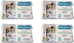 Babylove Baby Billendoekjes 4x80 stuks - 320 stuks billendoekjes - Parfumvrij - Parfumvrije billendoekjes