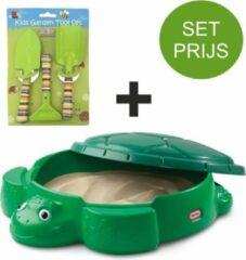 Little Tikes Zandbak Schildpad en tuinset met 3 tuin accessoires (groen)