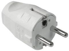 Bachmann 910.200 Stekker met randaarde Kunststof 250 V Wit IP20, IP44