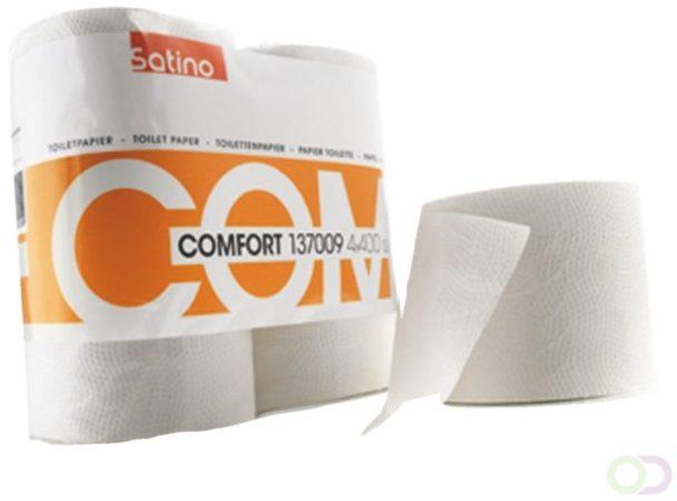 Afbeelding van Toiletpapier Satino 2-laags Comfort 400vel wit 4rollen