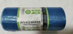 Blauwe DAFNE Afvalzakken - 60 Liter - T25 - 20 Stuks - 60x80 cm - 100% Recyclebaar - Milieuvriendelijk