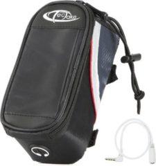 TecTake - Frametas fietstas voor o.a. smartphone e.d. zwart rood S 401605