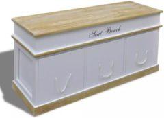 Witte VidaXL Halbankje/schoenenkastje