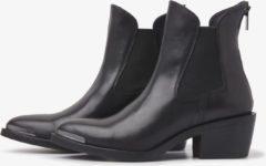 Via Vai 5501036 leren chelsea boots zwart