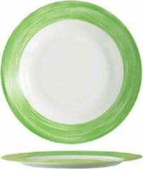 Arcoroc Brush - Dinerborden - Groen - 23,5cm - (Set van 6) En Yourkitchen E-kookboek - Heerlijke Smulrecepten