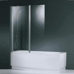 Novellini Aurora badklapwand 2 delig 120x150cm mat chroom profiel en helder glas AURORAN2-1B