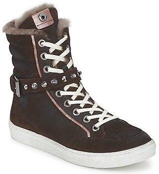 Afbeelding van Bruine Hoge Sneakers Janet Sport MOROBRAD