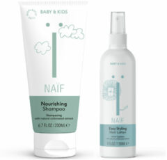 Naif Naïf Shampoo en Haarlotion Baby&Kids Pakket