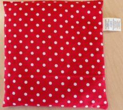 D&L Kersenpitje Classico 24 x 25 cm | Rood met Witte Bollen, Warmte Kussen - Opwarmbaar - Koud Warm Kompres