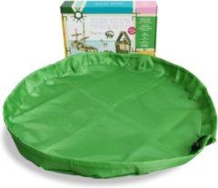 Groene JOIN CLIPS 2 in 1 speelkleed en opbergkleed 60cm voor bouwplankjes en JOIN CLIPS