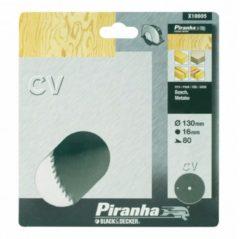 Metabo BLACK+DECKER Piranha Sägeblatt für Kreissäge, Chrom-Vanadium, 130x16 mm K80 X10005-XJ