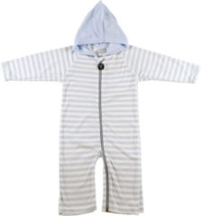 Blauwe Ducksday onesie unisex - Blue stripe - 80/86